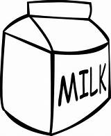 Milk Carton Coloring Clipart Box Draw Colouring Outline Jug Clip Gallon Drawing Pages Cliparts Netart sketch template