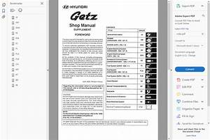 Factory Workshop Service Repair Manual Hyundai Getz 2002