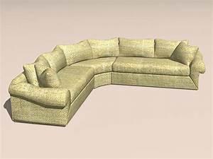 corner sectional sofa 3d model 3ds maxautocad files free With sectional sofa 3d model