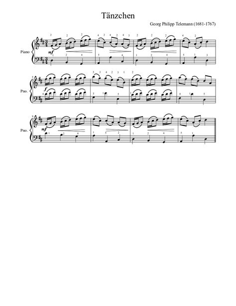 By its nature music is cyclic (at least western music) so any method you use to develop melodies very simple. Tänzchen (easy piano) Sheet music for Piano (Solo) | Musescore.com