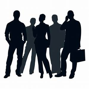 Gente de negocios grupo silueta - Descargar PNG/SVG ...
