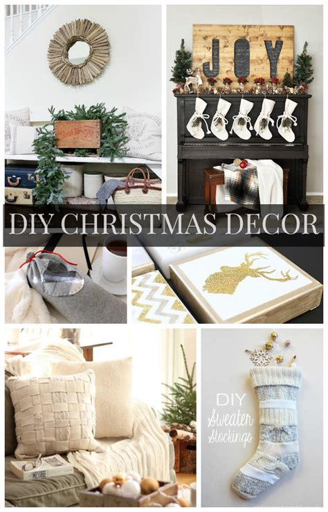 diy christmas decor ideas link party features the