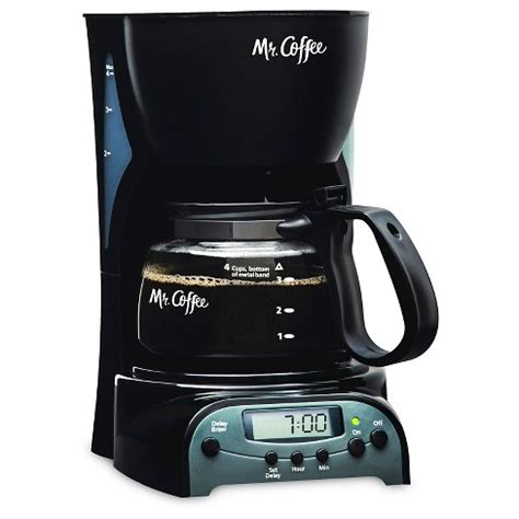 The final product is brought to you by though the former coffee machines that we just reviewed are not an inferior choice at all and can this k cup compatible coffee maker is designed mainly for the traveling guys. Mr. Coffee® 4-Cup Programmable Coffee Maker, Black, DRX5-NP : Target