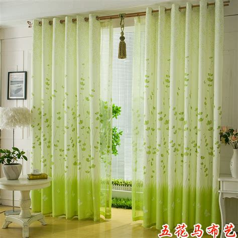 green fresh curtain fabric cloth curtain sell window