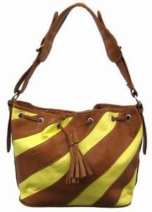 Yellow Neon Gladstone Style Handbag Shoulder Bag Limited
