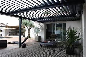 pergola bioclimatique a lames orientables With rideau pour pergola exterieur 10 pergolas alu