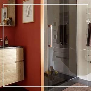 57 best images about salles de bains on pinterest With porte de douche coulissante avec meuble salle de bain custom aurlane