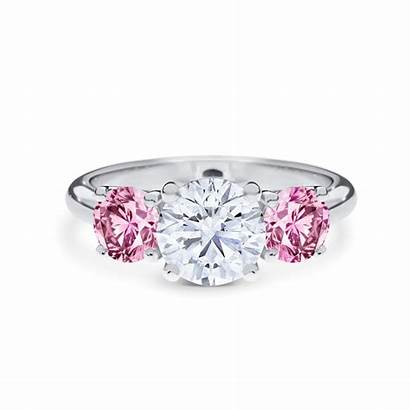 Diamond Pink Round Cut Simone Brilliant Argyle