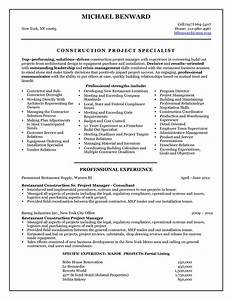 construction resume 2016 Construction Project Manager