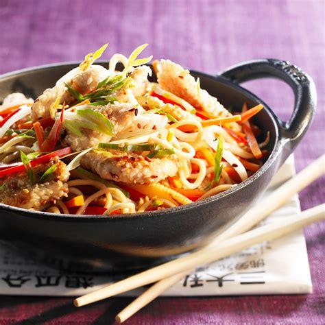 recette de cuisine au wok wok de poulet aux légumes facile rapide et pas cher