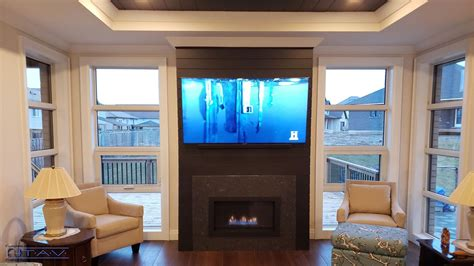 fireplace mounted tv installation gallery