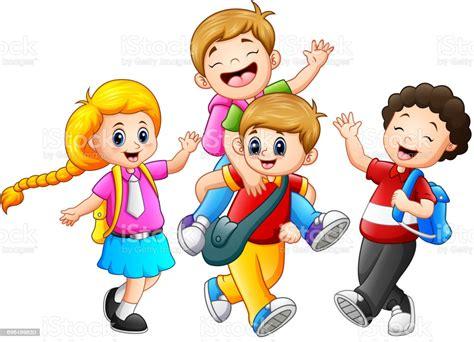 Happy Childrens Cartoon Stock Illustration Download