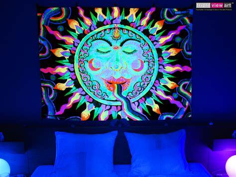 quot rainbow sun quot uv blacklight fluorescent glow psychedelic