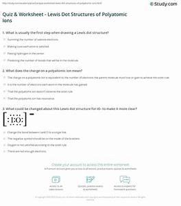 Electron Dot Diagrams And Structural Formulas Worksheet