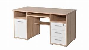 Schreibtisch Eiche Weiß : schreibtisch 0484 wei sonoma eiche abschlie bar germania ~ Michelbontemps.com Haus und Dekorationen