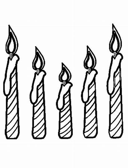 Candle Coloring Pages Birthday Cake Fice Candles