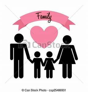 Family love design, vector illustration eps10 graphic ...