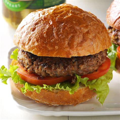 hamburgar recipes barley beef burgers recipe taste of home
