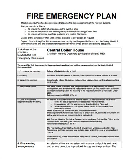 emergency plan template for schools emergency plan template 8 free sle exle format free premium templates