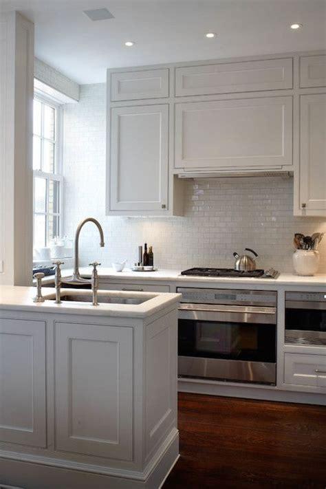 backsplash kitchen photos amazing kitchen boasts white shaker cabinets paired 1431