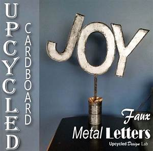 72 best upcycled christmas ideas images on pinterest With giant joy letters