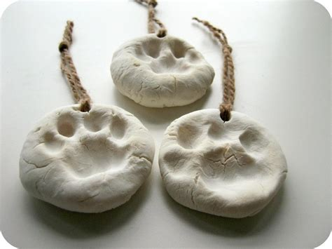 diy pet paw prints  clay model decorating  cut