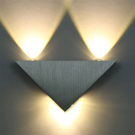 kitop 3w aluminum triangle led wall l ac85 265v high power led modern home lighting indoor