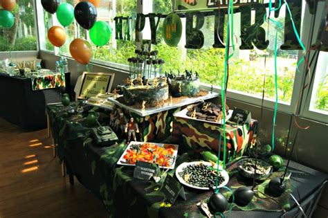 """Camouflage Military """"laser Tag"""" Birthday Boys Party Ideas"""