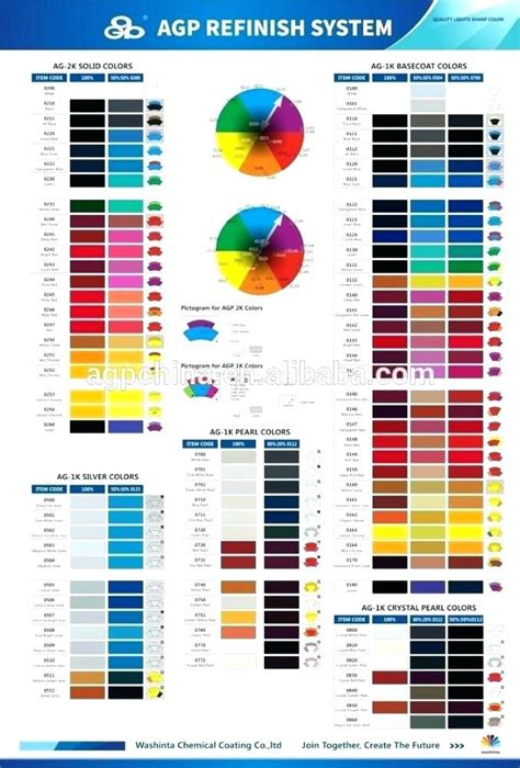 vehicle color chart newscellar info
