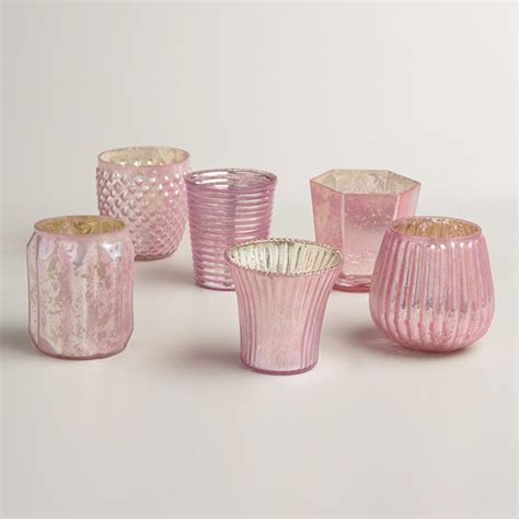 pink votive candle holders 10 home decor picks inspired by pantone s 2016 color of