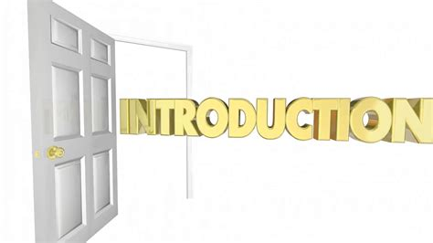 Introduction Door Opening Welcome Word 3d Animation Motion