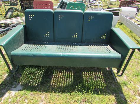 unrestored metal 3seat vintage porch gliders vintage