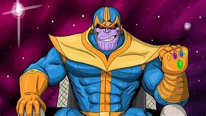 Thanos 4k Cartoon Wallpapers Comic Artwork Marvel