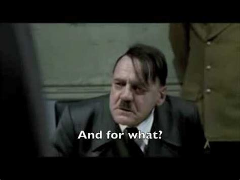 Hitler Movie Meme - hitler is fed up with all the hitler rants youtube