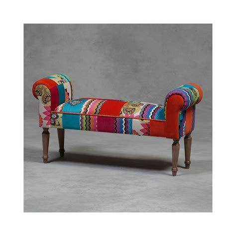 Chair Bench by Patchwork Bench Seat Hallway Bench Reproduction