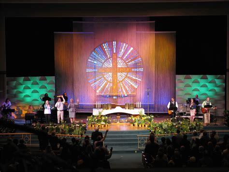 string curtain church stage design ideas