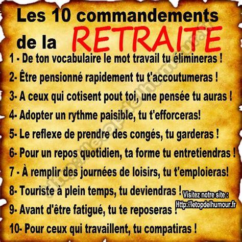 bureau de la retraite les 10 commandements de la retraite retraite