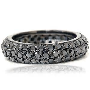 black womens wedding ring pave black eternity ring 14k black gold womens wedding