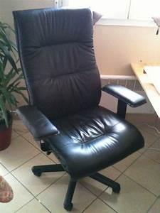 Chaise Pour Bureau : fauteuil bureau ikea cuir ~ Teatrodelosmanantiales.com Idées de Décoration