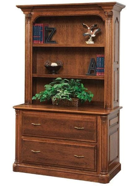 Lateral File Bookcase by Jefferson Lateral File With Optional Bookshelf From