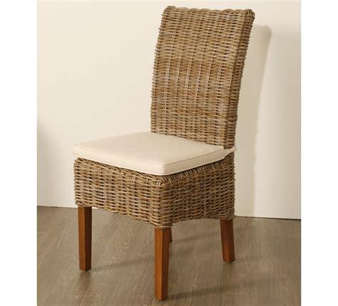 chaise h et h lot de 2 chaises en kubu tressé 5936