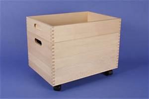 Bac A Vinyl : caisses de rangement caisse de roulement grande en h tre ~ Teatrodelosmanantiales.com Idées de Décoration