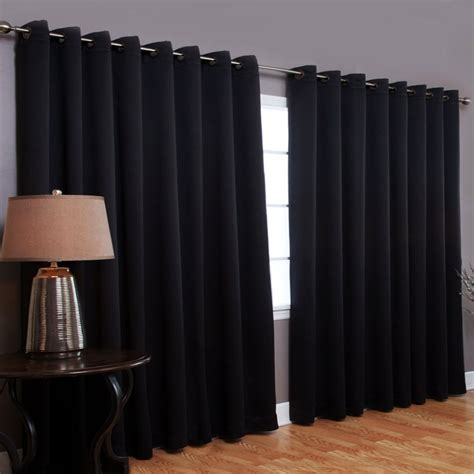 wide width grommet top thermal blackout insulated curtain