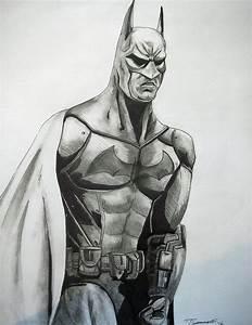 batman drawings in pencil | Arkham City Batman Drawing by ...