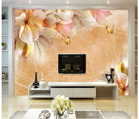 fashion floral decoration background wall dream mural