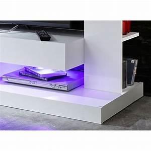 Banc Tv Design : banc tv design laqu blanc drice matelpro ~ Teatrodelosmanantiales.com Idées de Décoration