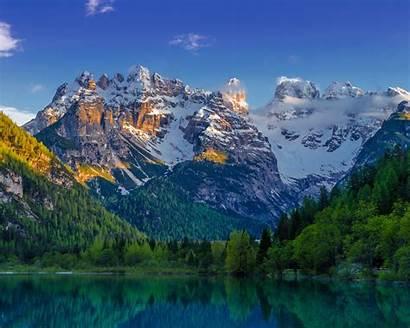 Nature Landscape Spring Mountains Lake Snow Mountain