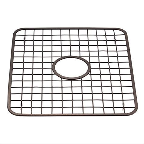 HowPlumb Kitchen Sink Grid Protector Rack with Drain Hole