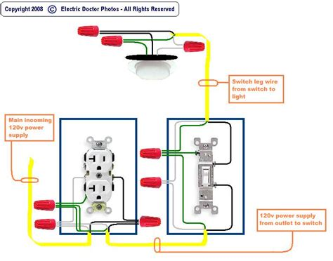 how to wire a light switch and outlet diagram somurich com