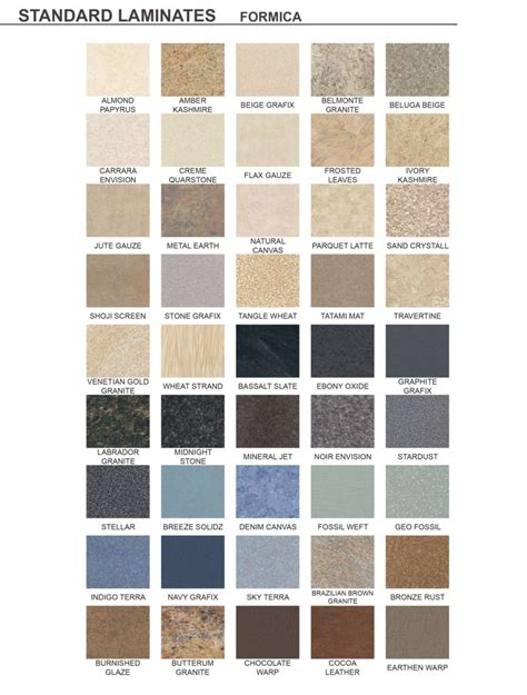 formica laminate colors standard laminate finishes segmented systems manufacturing